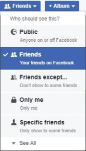 Selecting Friends in Facebook