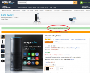 Amazon Echo UK Only